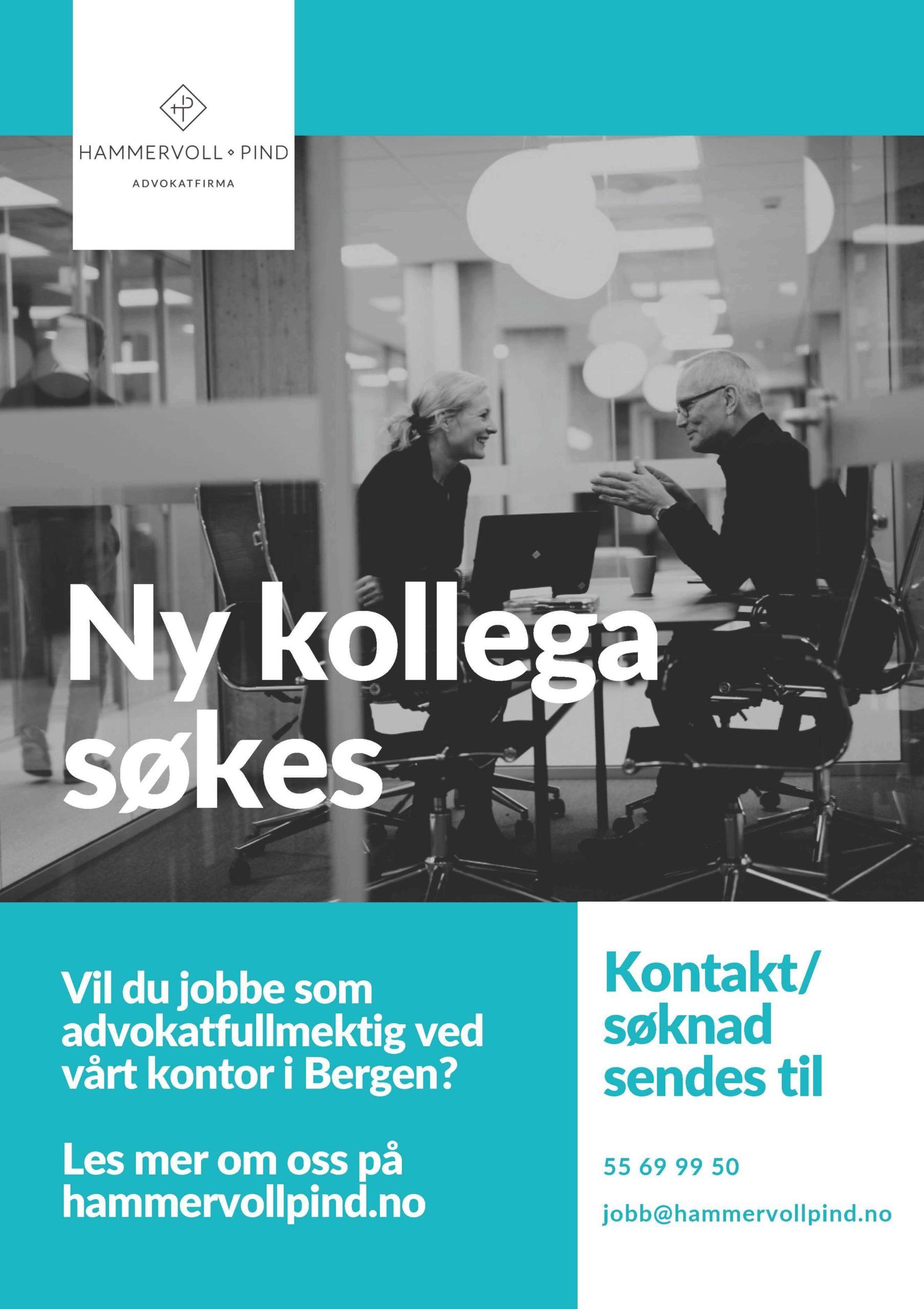 Ny kollega søkes til vårt kontor i Bergen